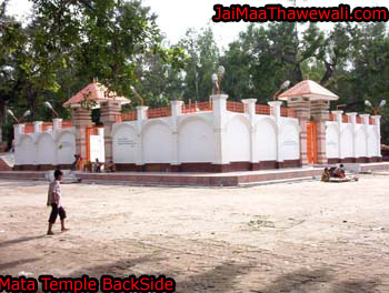 back side of thawe durga mandir